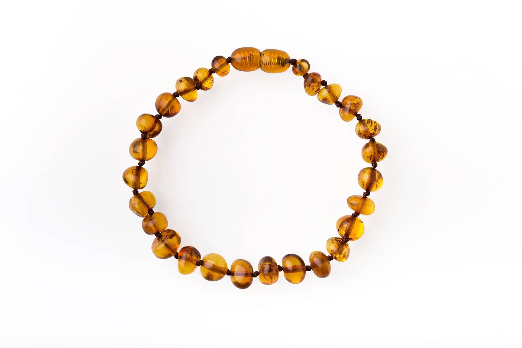 Natural Baltic Amber Two Row Bracelet/Choker Statement