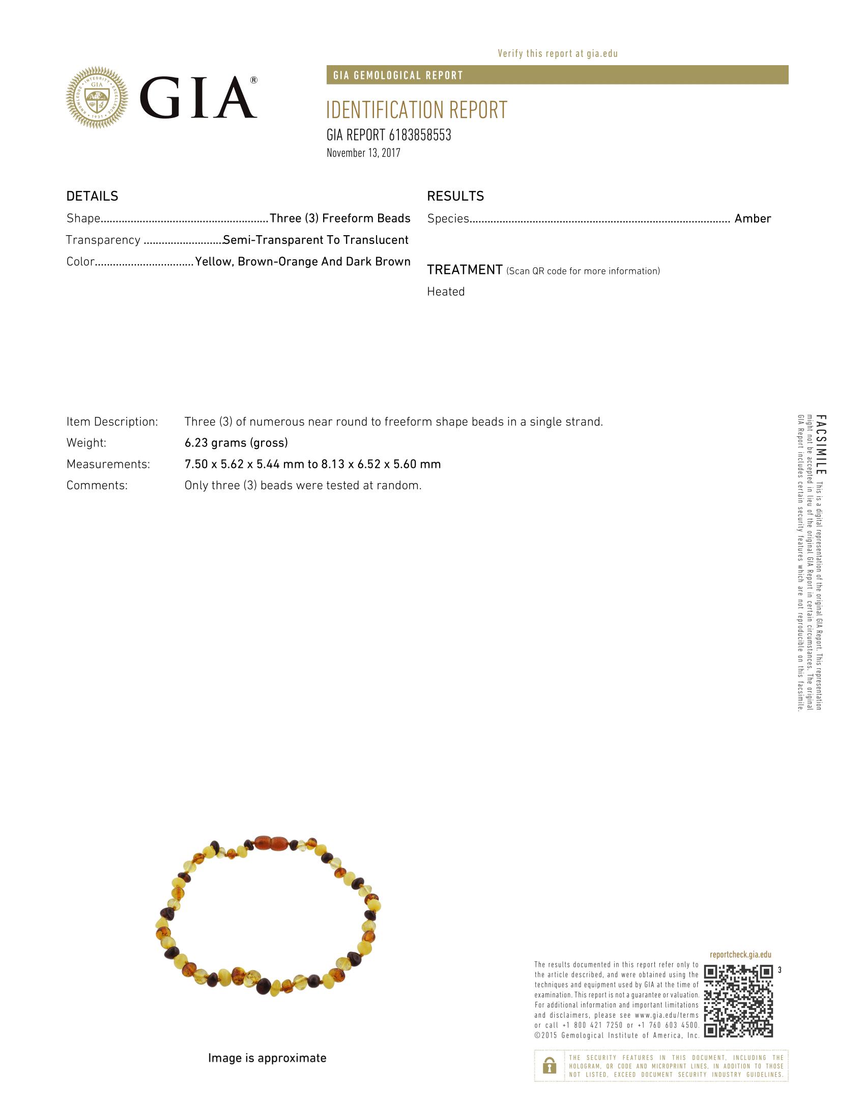 Certificate of Gemological Institute Of America