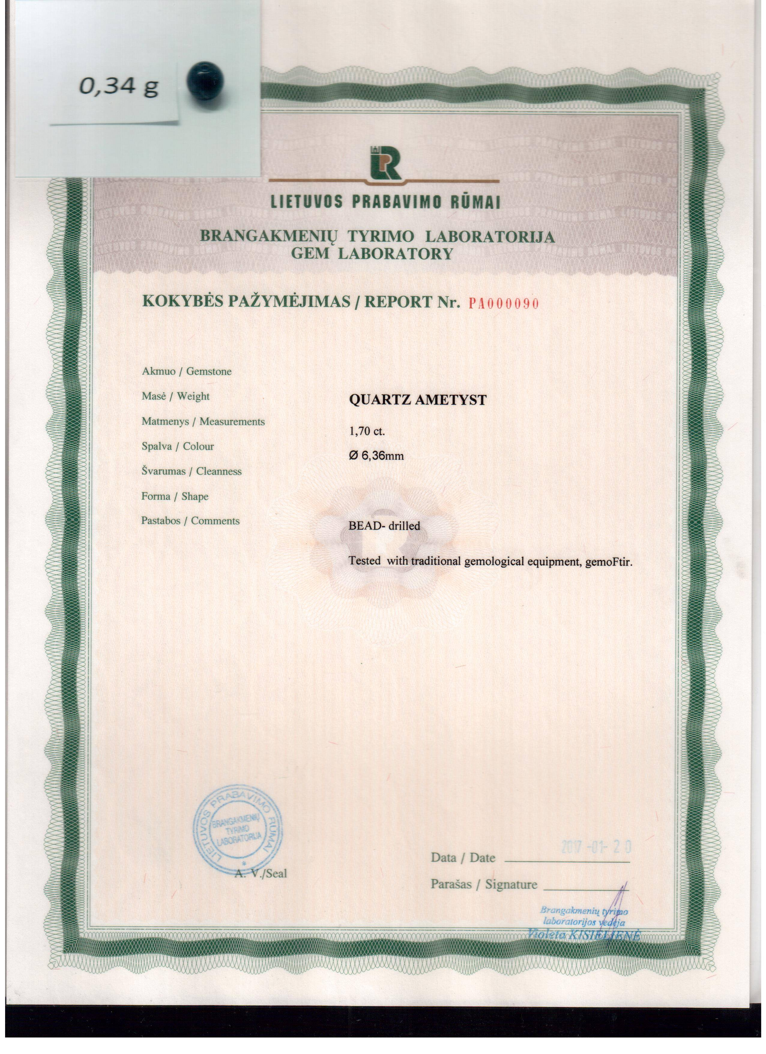 Certificate For Safety Of Products